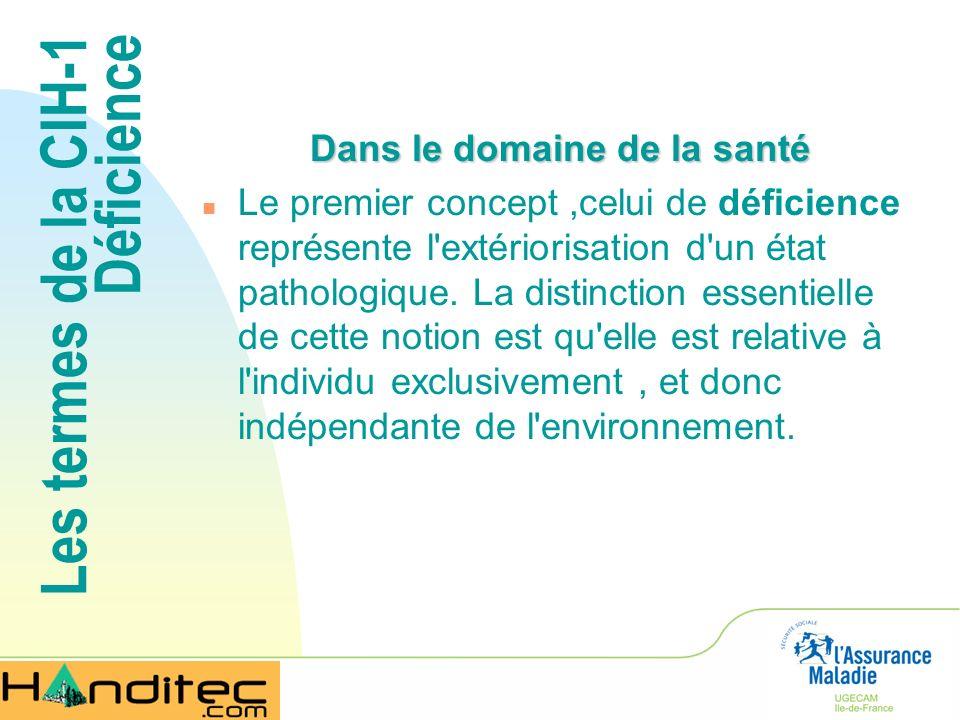 Les termes de la CIF Facteurs environnementaux n Les « facteurs environnementaux » constituent lenvironnement physique, social et attitudinal (traduction canadienne) dans lequel les gens vivent et mènent leur vie.