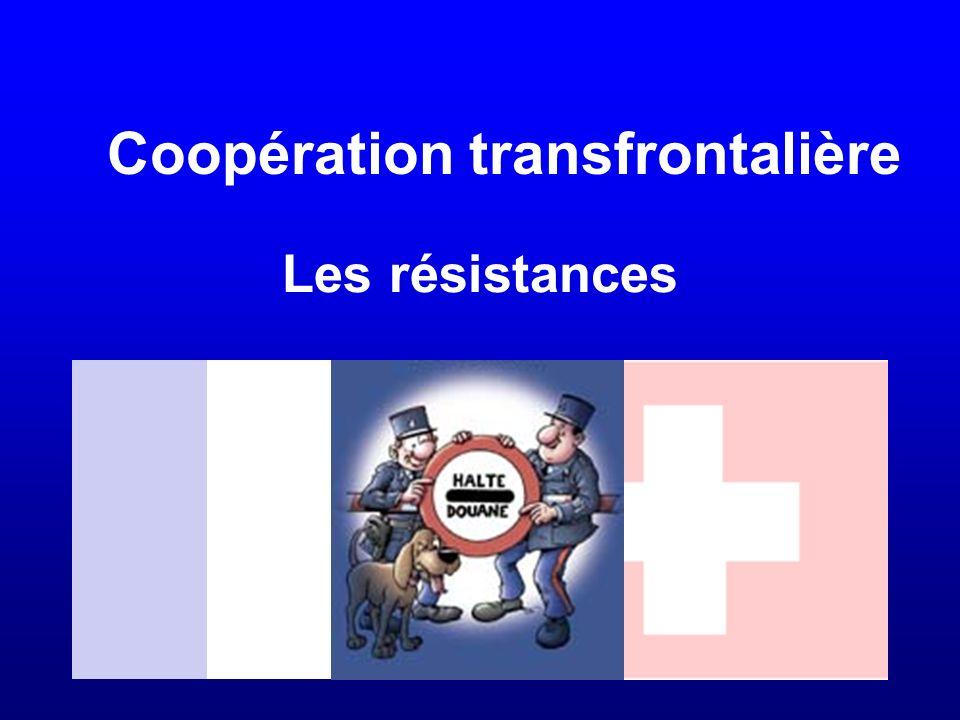 Les résistances Coopération transfrontalière