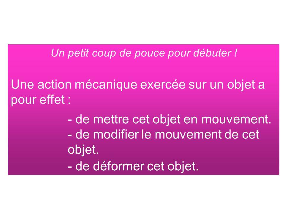 Question 8 Recherche les caractéristiques du vecteur force.