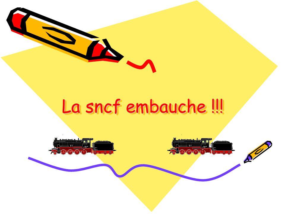 La sncf embauche !!! Diaporama PPS réalisé pour http://www.diaporamas-a-la-con.com http://www.diaporamas-a-la-con.com