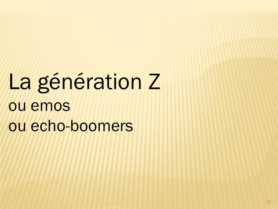 28 La génération Z ou emos ou echo-boomers