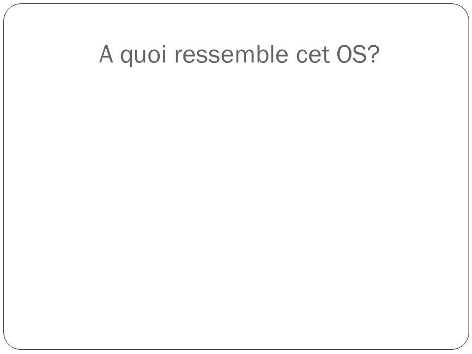 A quoi ressemble cet OS?