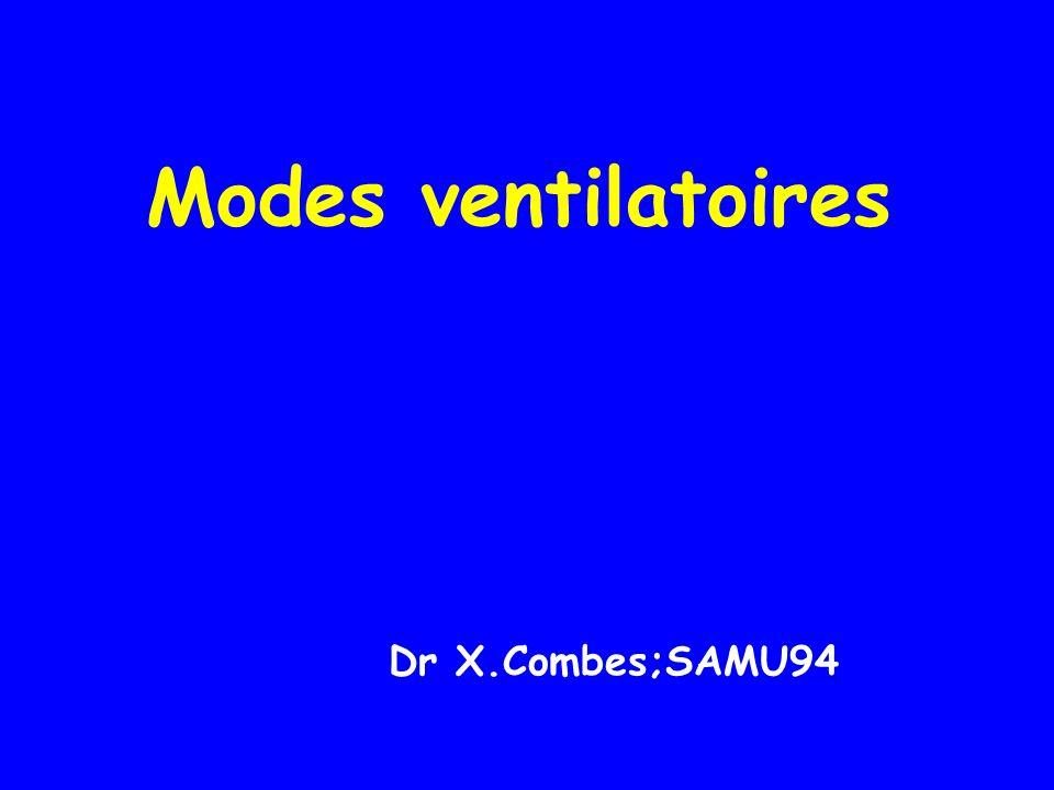 Modes ventilatoires Dr X.Combes;SAMU94