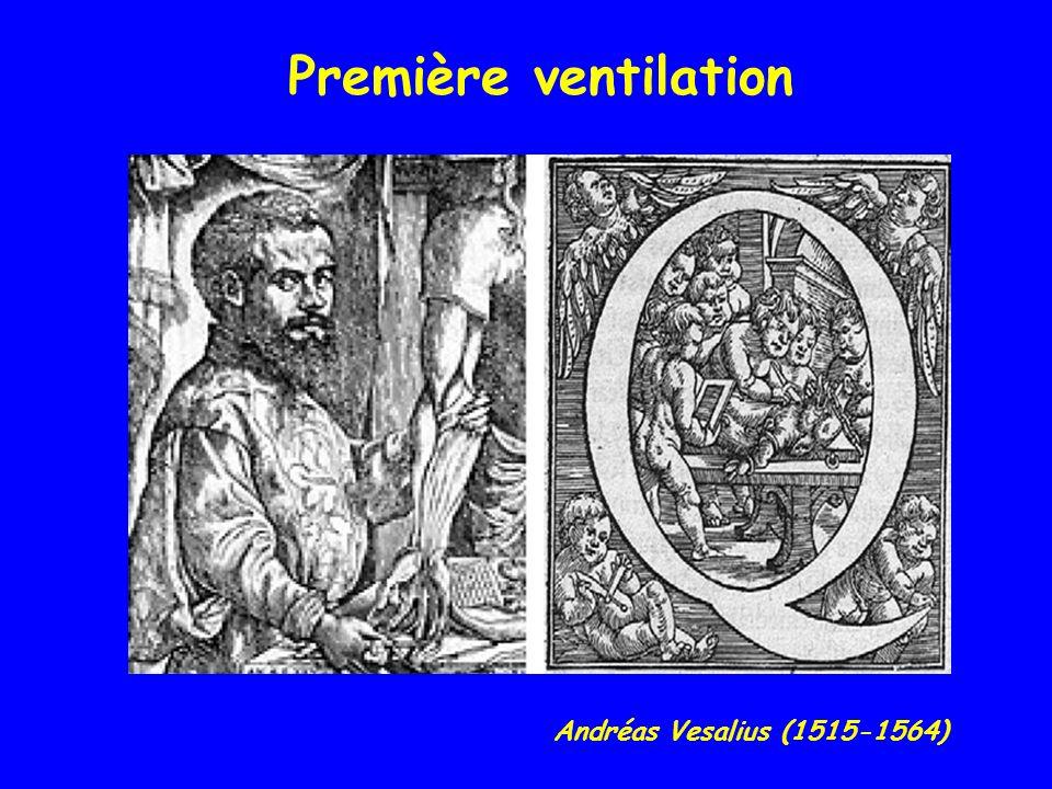 Andréas Vesalius (1515-1564) Première ventilation