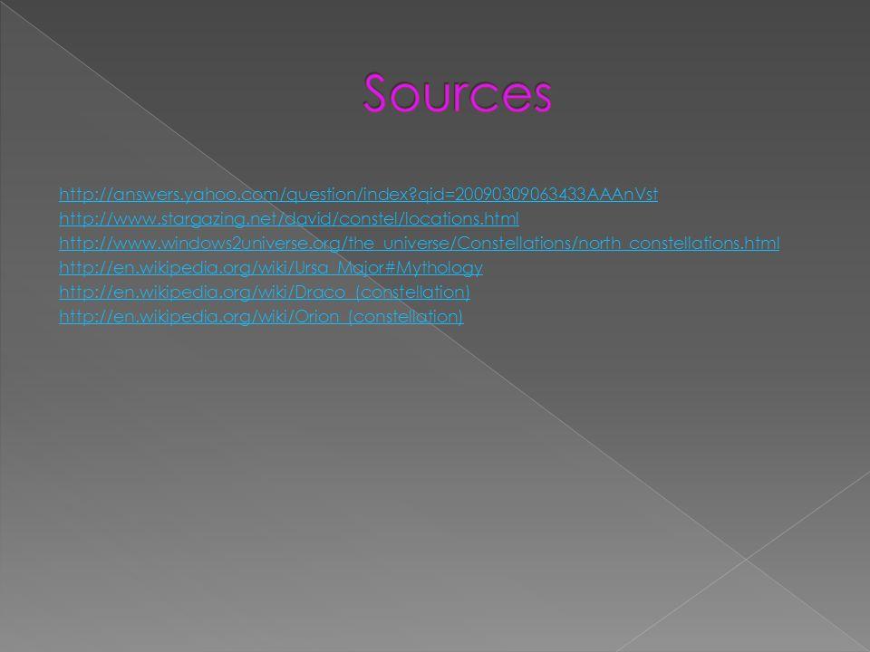 http://answers.yahoo.com/question/index?qid=20090309063433AAAnVst http://www.stargazing.net/david/constel/locations.html http://www.windows2universe.o