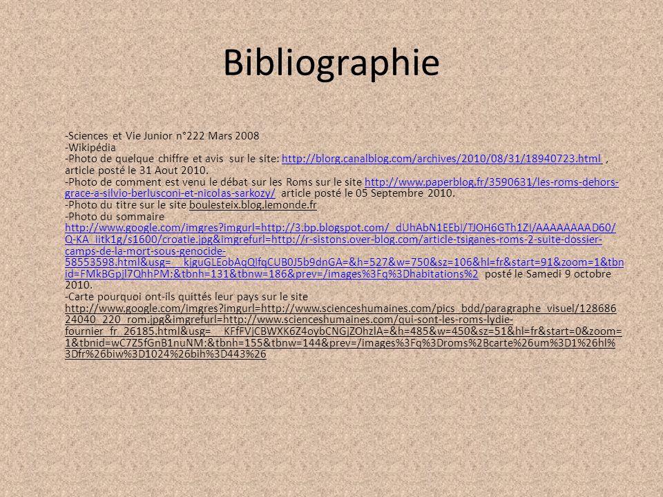 Bibliographie -Sciences et Vie Junior n°222 Mars 2008 -Wikipédia -Photo de quelque chiffre et avis sur le site: http://blorg.canalblog.com/archives/20