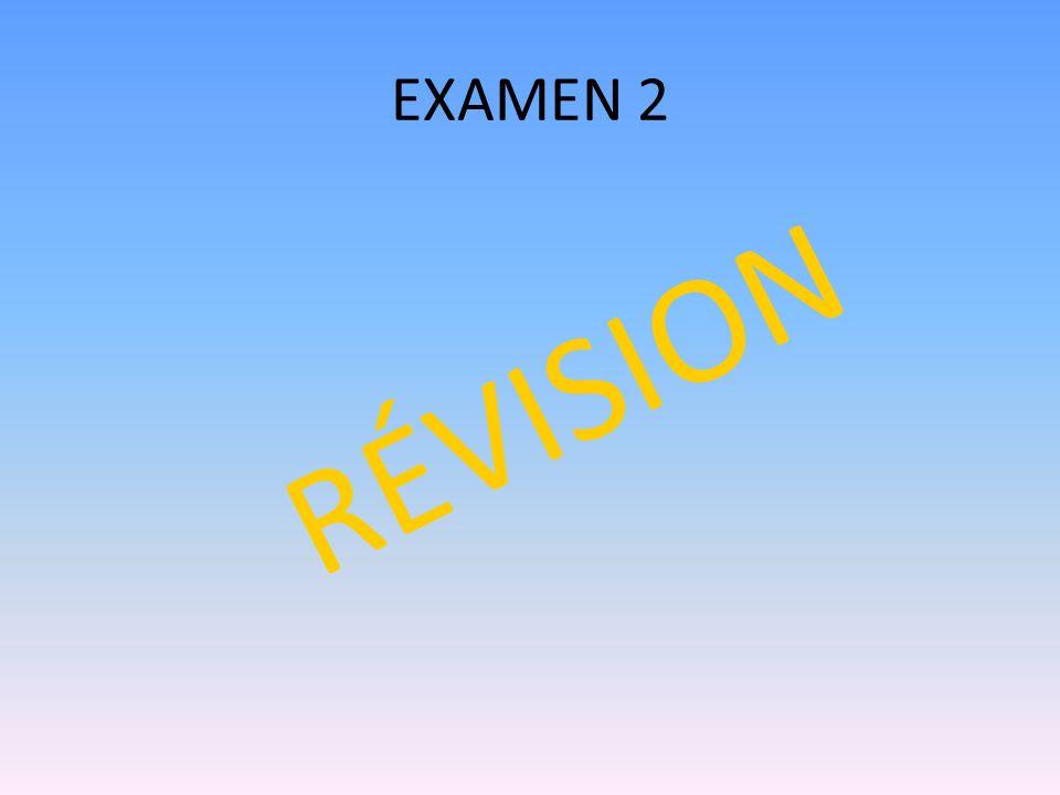 EXAMEN 2 RÉVISION