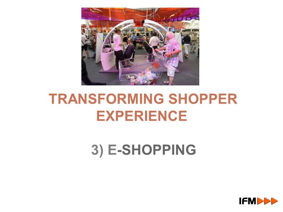 TRANSFORMING SHOPPER EXPERIENCE 3) E-SHOPPING