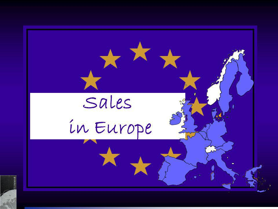 Sales in Europe