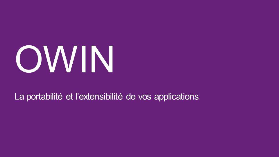 OWIN La portabilité et lextensibilité de vos applications