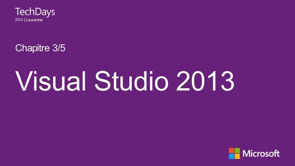 | Lausanne Visual Studio 2013 Chapitre 3/5