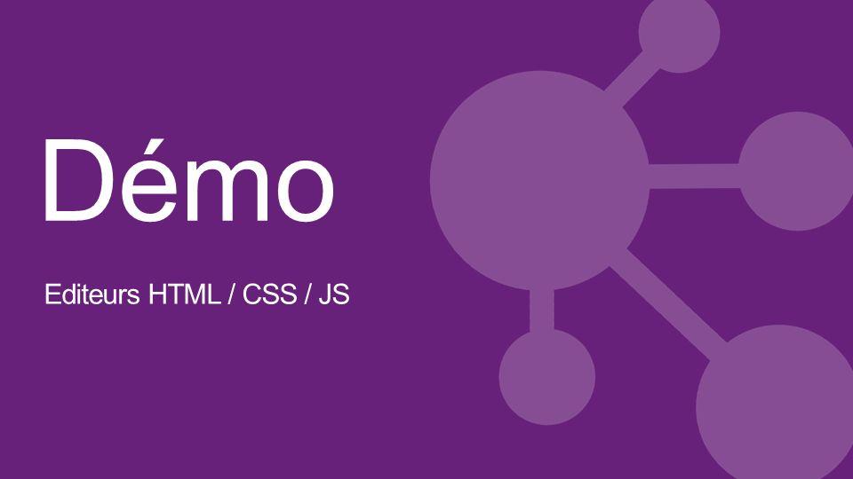 Démo Editeurs HTML / CSS / JS