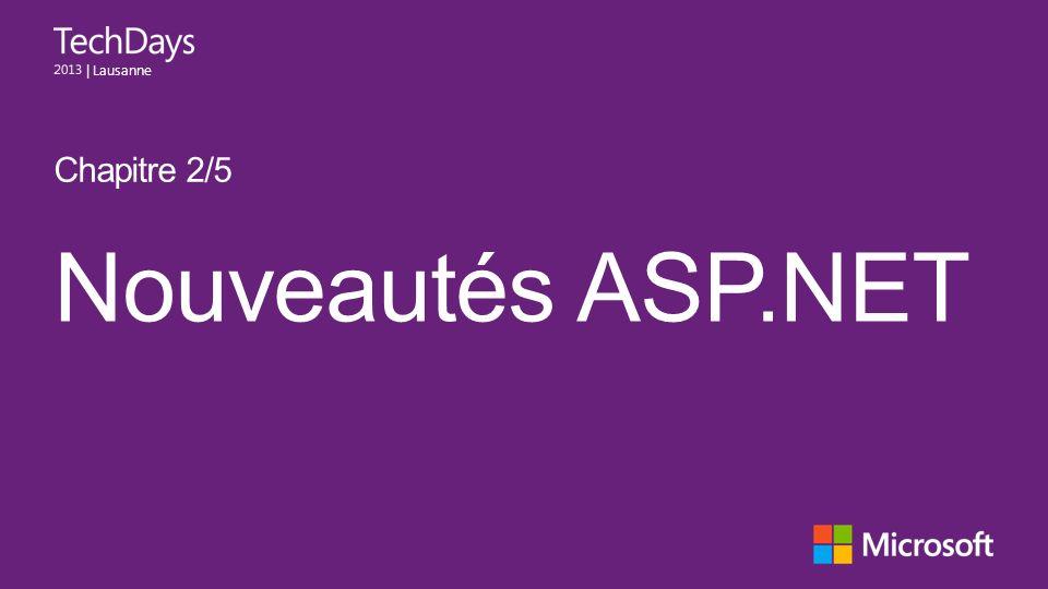| Lausanne Nouveautés ASP.NET Chapitre 2/5