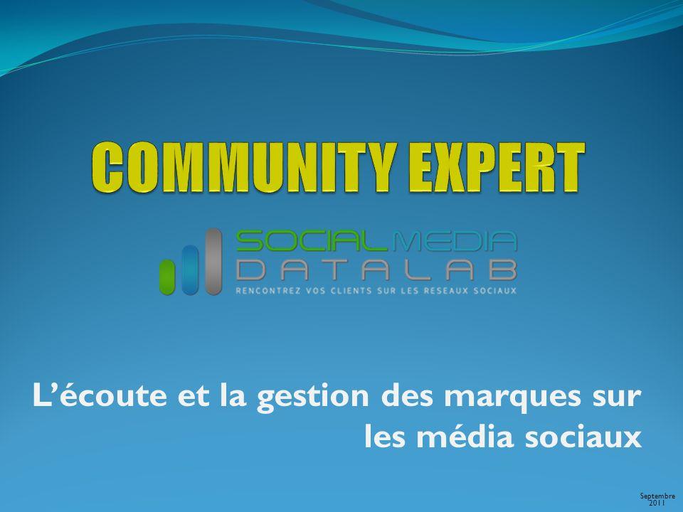 Lécoute et la gestion des marques sur les média sociaux Septembre 2011