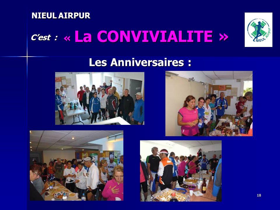 18 NIEUL AIRPUR « La CONVIVIALITE » Cest : Les Anniversaires :