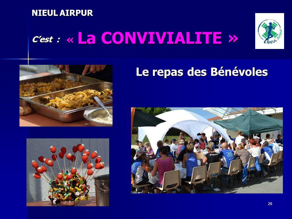 20 NIEUL AIRPUR Cest : « La CONVIVIALITE » Le repas des Bénévoles