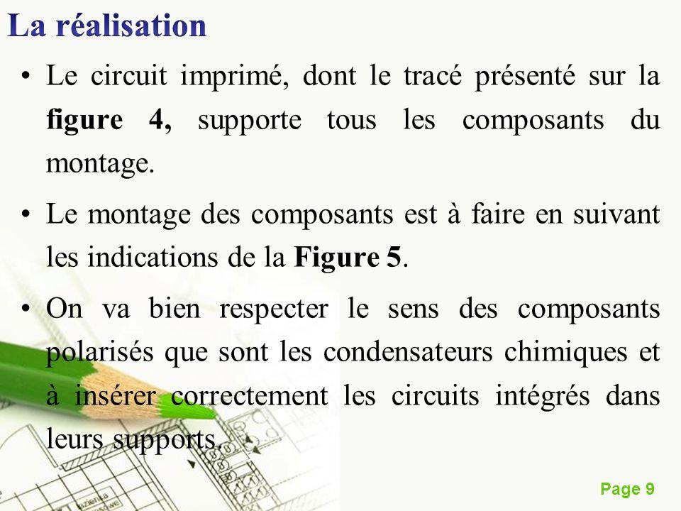 Page 9 Le circuit imprimé, dont le tracé présenté sur la figure 4, supporte tous les composants du montage. Le montage des composants est à faire en s