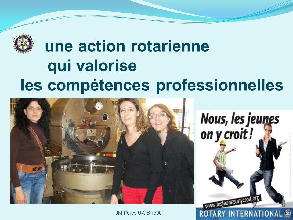 une action rotarienne qui valorise les compétences professionnelles JM Pérès U-CB 1690