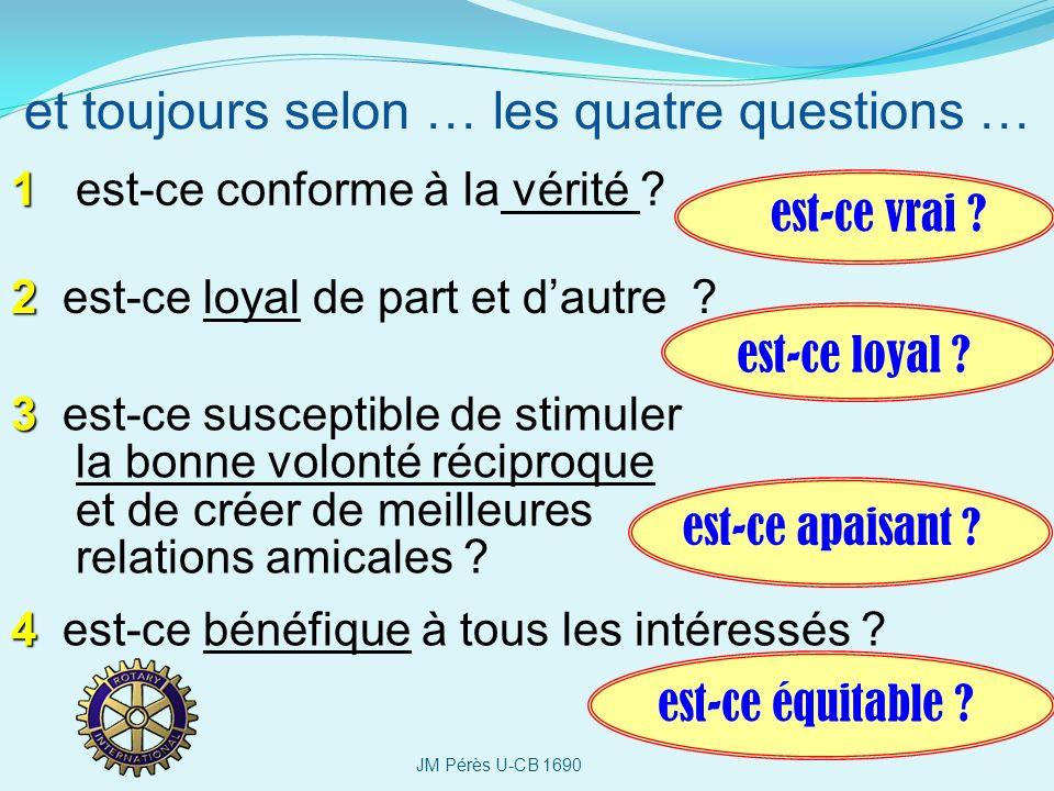 1 1 est-ce conforme à la vérité ? et toujours selon … les quatre questions … 2 2 est-ce loyal de part et dautre ? 3 3 est-ce susceptible de stimuler l