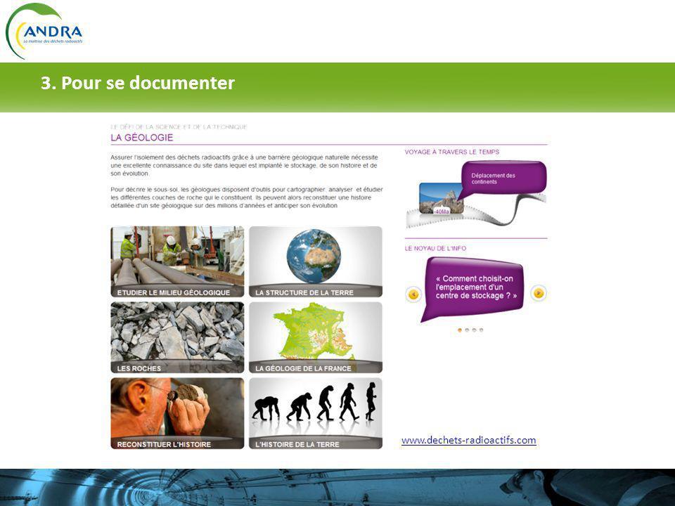 3. Pour se documenter www.dechets-radioactifs.com