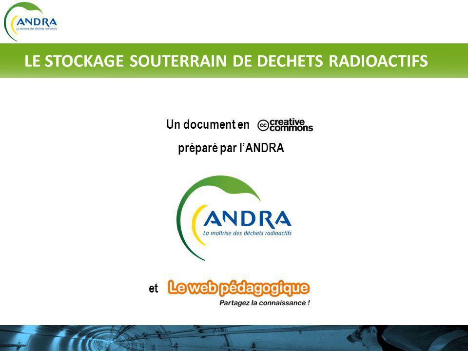 Un document en préparé par lANDRA et LE STOCKAGE SOUTERRAIN DE DECHETS RADIOACTIFS