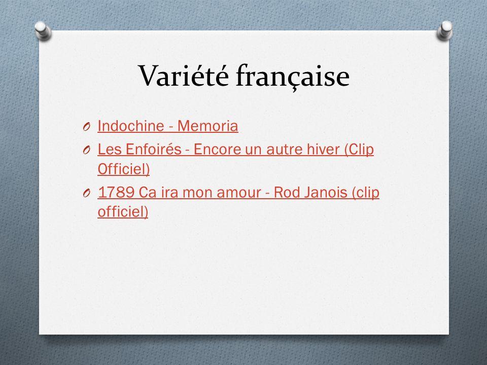 Variété française O Indochine - Memoria Indochine - Memoria O Les Enfoirés - Encore un autre hiver (Clip Officiel) Les Enfoirés - Encore un autre hive