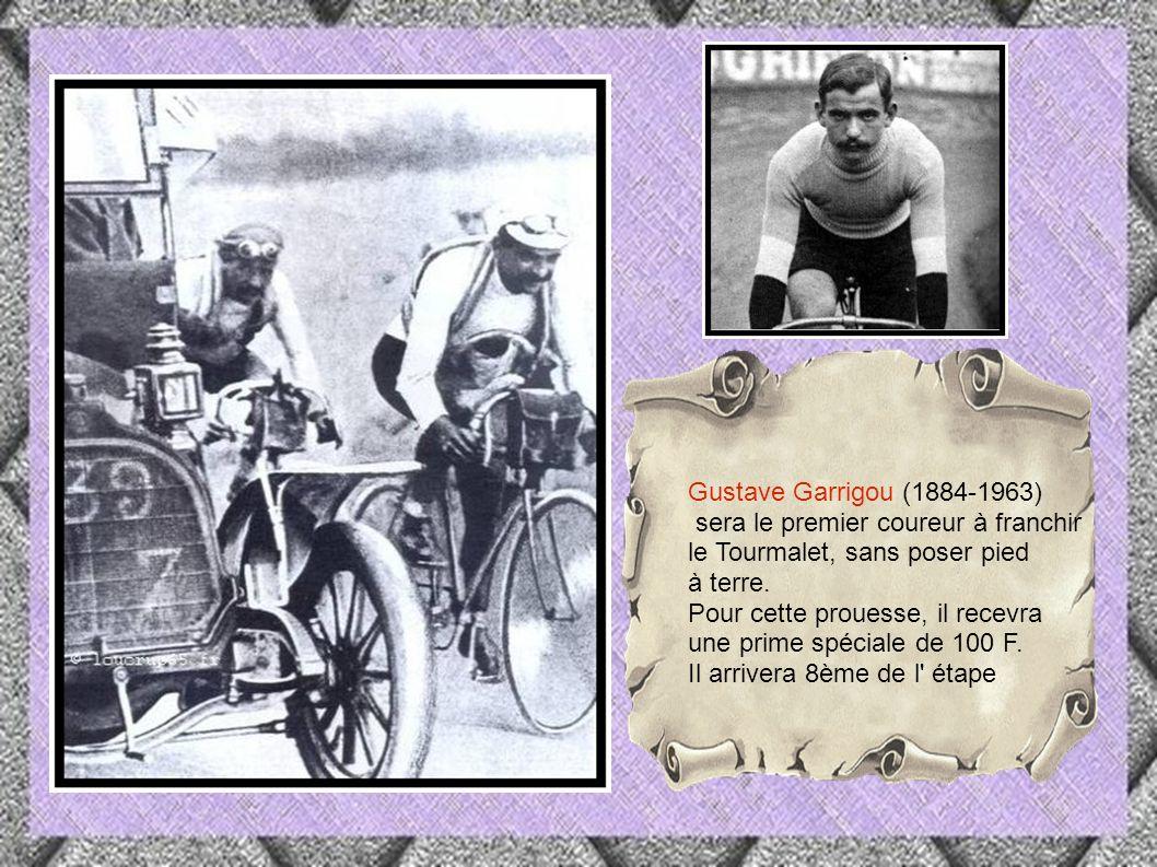 Lapize renommé meilleur grimpeur, mettra pied à terre, au bout de 13 km et alternera la montée entre marche à pied et effort cycliste Octave Lapize dit le frisé 1887-1917( mort au front)