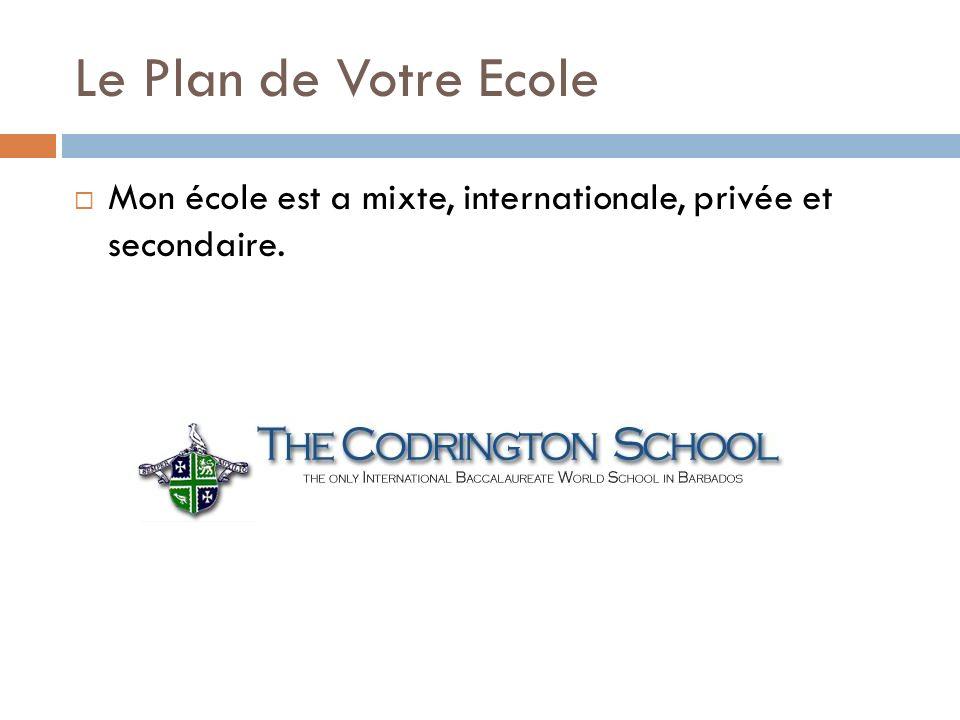 Le Plan de Votre Ecole Mon école est a mixte, internationale, privée et secondaire.
