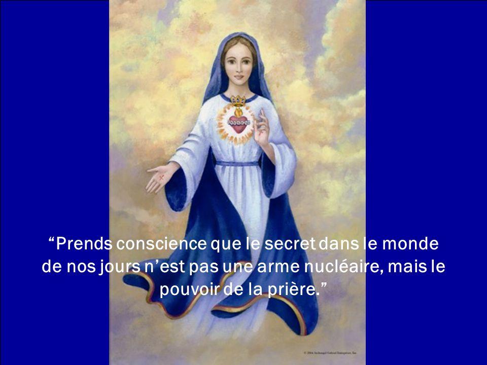 Un Ave Maria récité dun cœur amoureux, porte en soi le pouvoir de convertir une âme, darrêter une guerre, de libérer une âme du purgatoire, de restaur