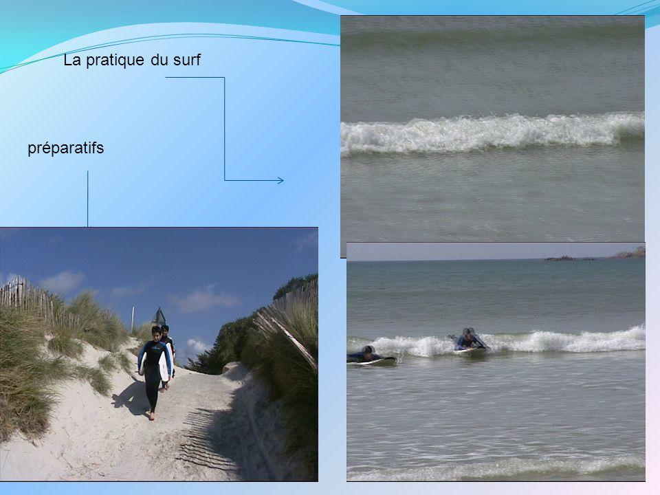 La pratique du surf préparatifs