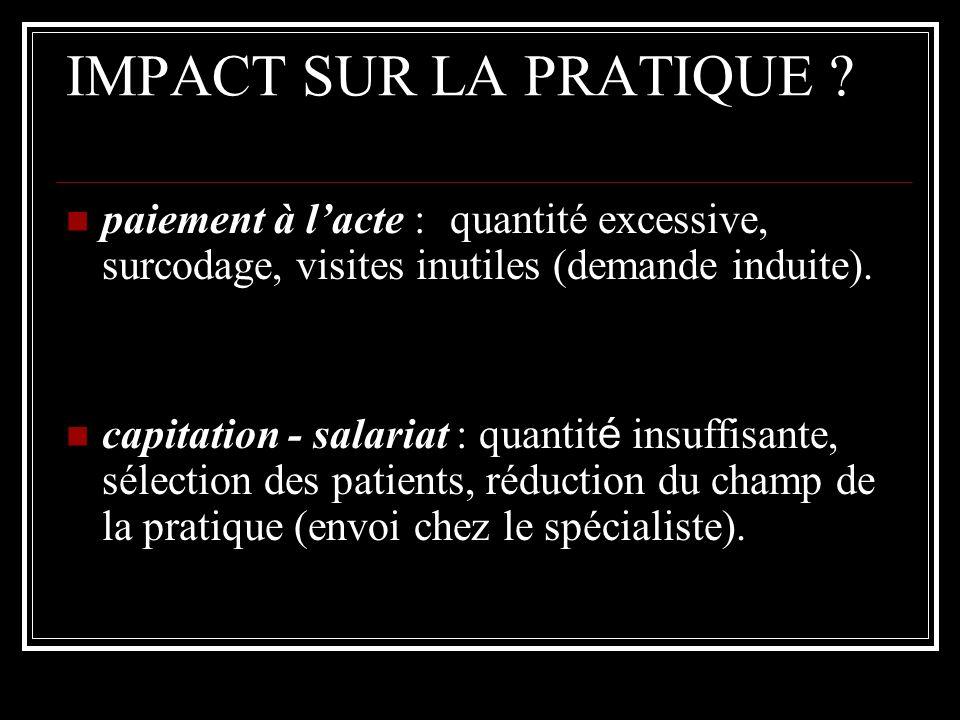 IMPACT SUR LA PRATIQUE .