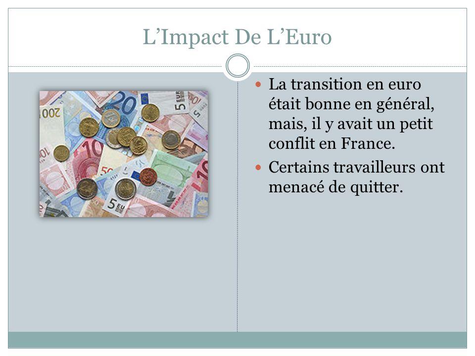 LEuro Aujourdhui Dans l ensemble, l euro a eu peu de problèmes.