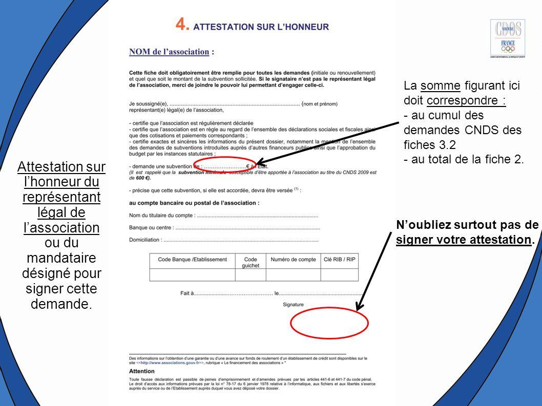 Noubliez surtout pas de signer votre attestation.