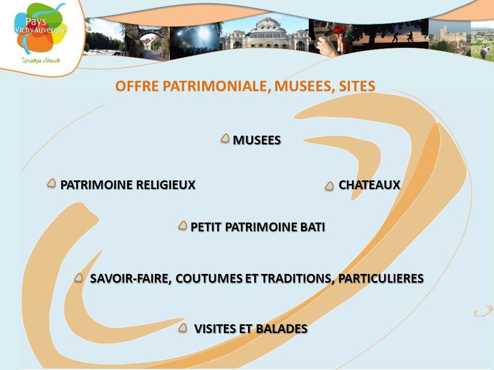 OFFRE PATRIMONIALE, MUSEES, SITES MUSEES PETIT PATRIMOINE BATI PETIT PATRIMOINE BATI CHATEAUX PATRIMOINE RELIGIEUX PATRIMOINE RELIGIEUX SAVOIR-FAIRE,