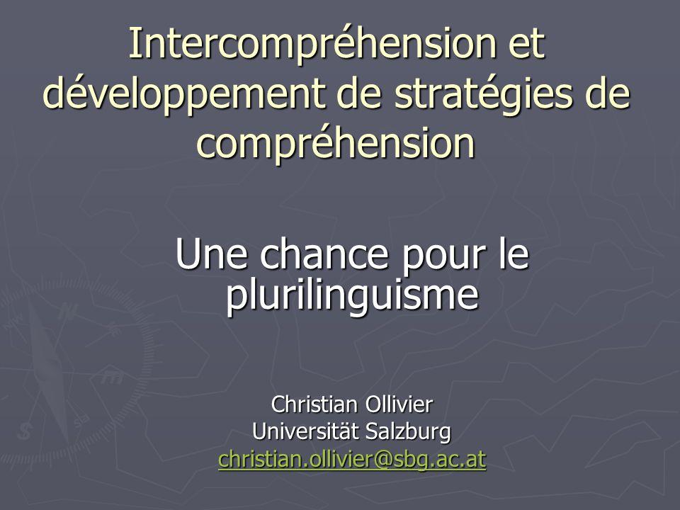 Christian Ollivier - Sprachenzentrum der Universität Salzburg Comment comprenons-nous.