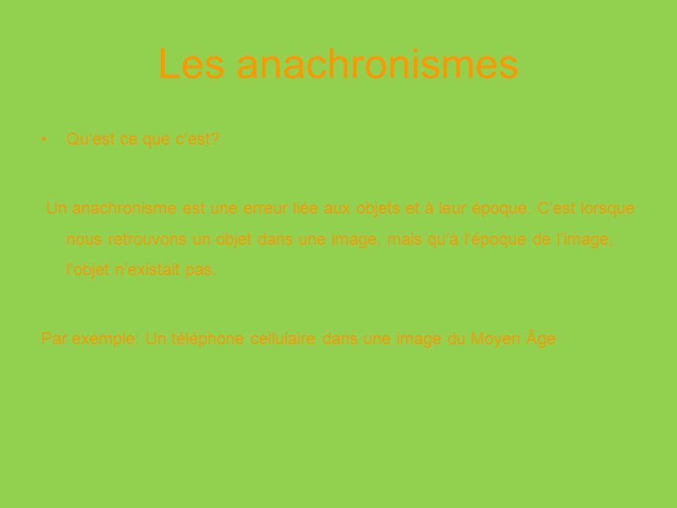 Le projet Avec lutilisation du logiciel GIMP, vous serez amenés à créer une image présentant un anachronisme