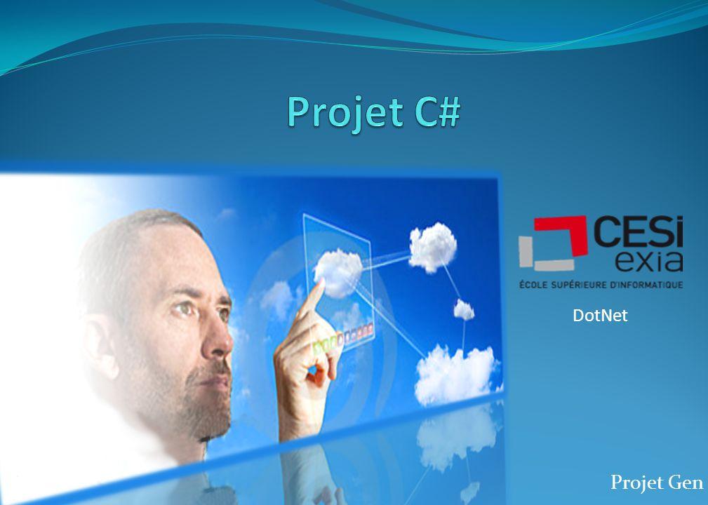 Projet Gen DotNet