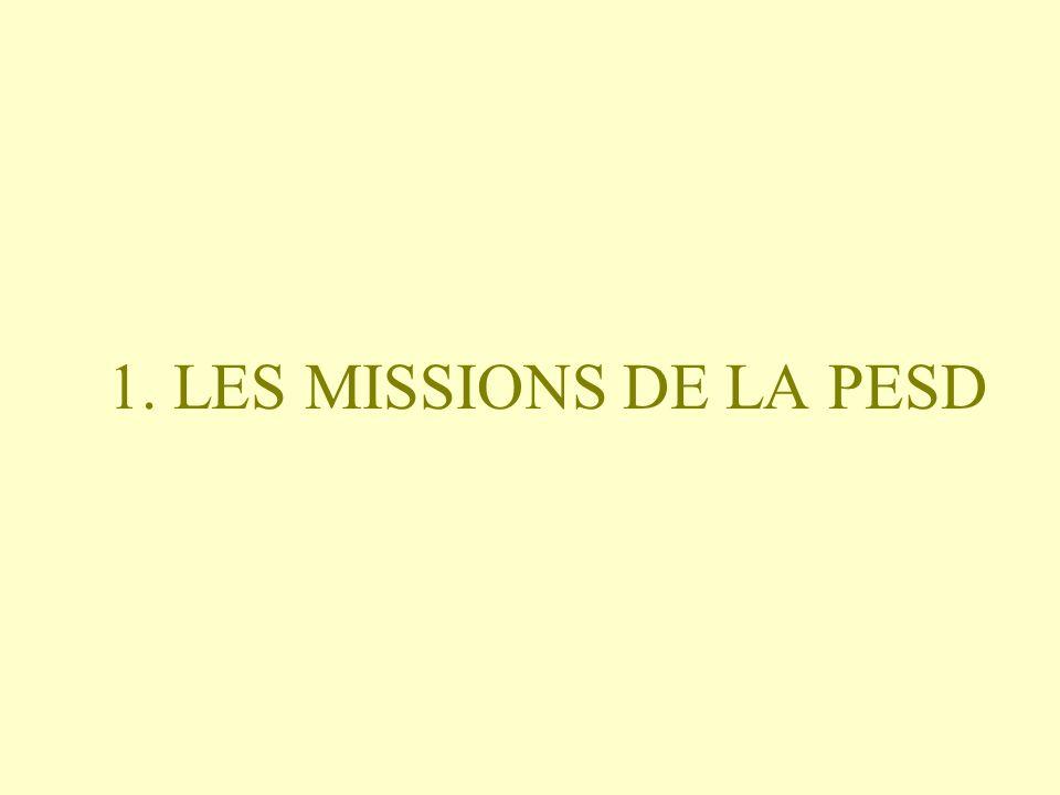 1. LES MISSIONS DE LA PESD