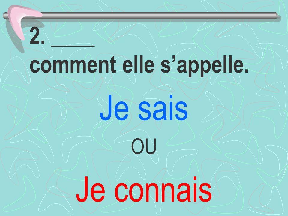 12. ____ la culture française. Je connais