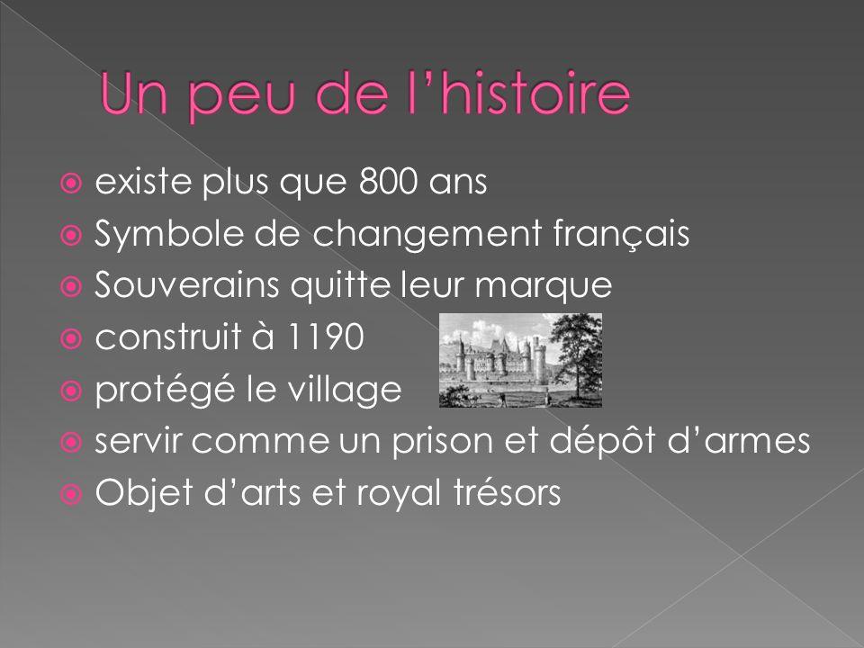 existe plus que 800 ans Symbole de changement français Souverains quitte leur marque construit à 1190 protégé le village servir comme un prison et dép