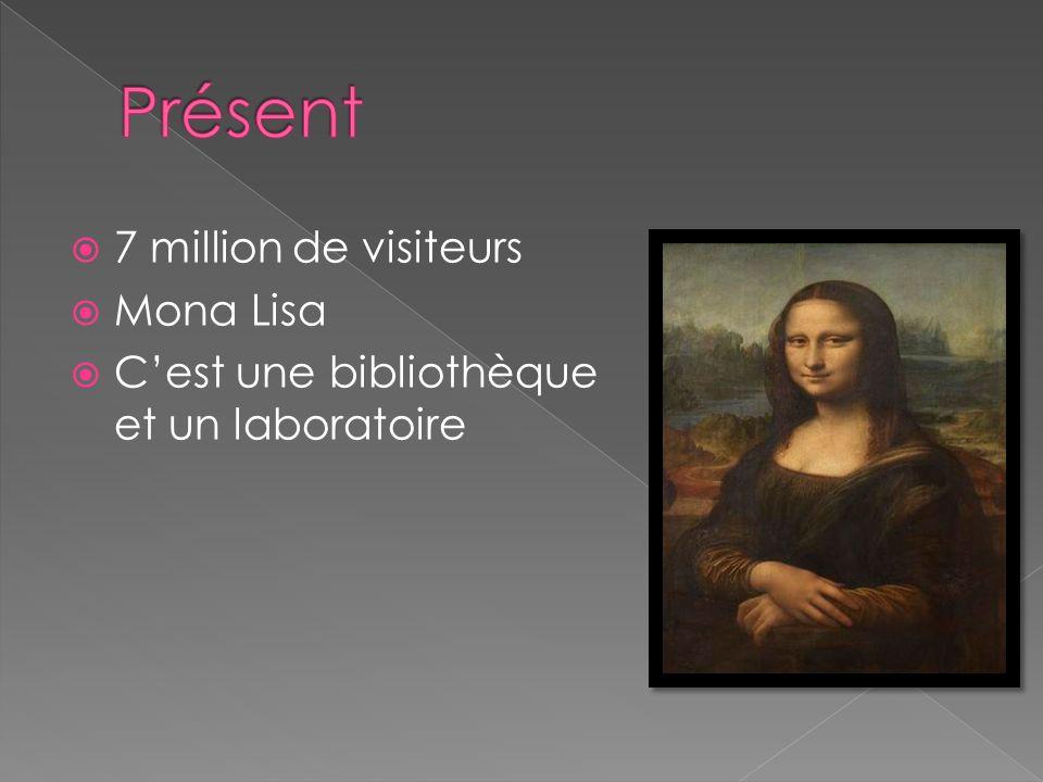 7 million de visiteurs Mona Lisa Cest une bibliothèque et un laboratoire