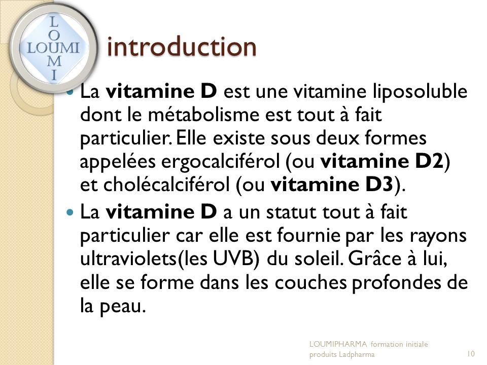 introduction La vitamine D est une vitamine liposoluble dont le métabolisme est tout à fait particulier.