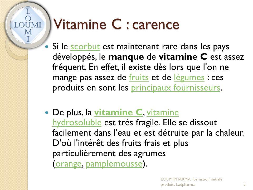 Vitamine C : carence Si le scorbut est maintenant rare dans les pays développés, le manque de vitamine C est assez fréquent.