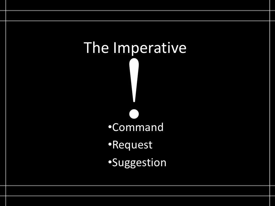 The Imperative Command Request Suggestion