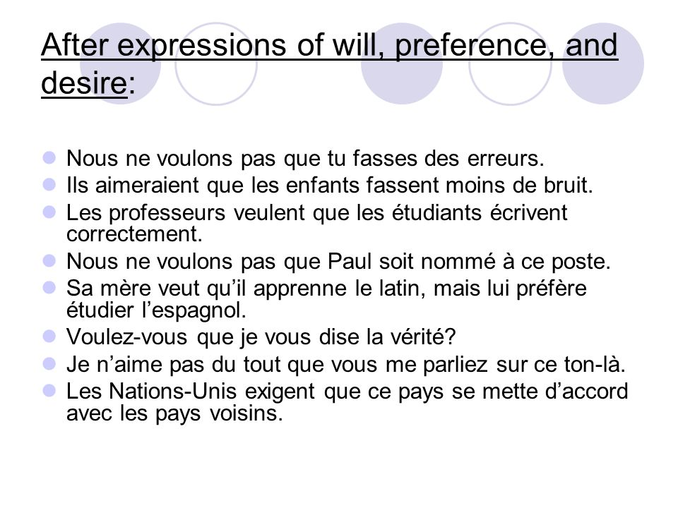 After expressions of doubt, possibility, or opinion: Je ne pense pas que ce soit vrai.