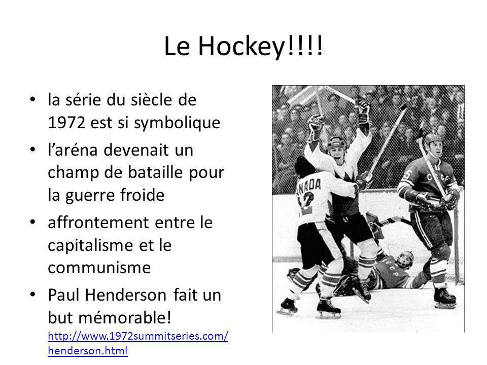 Le Hockey!!!! la série du siècle de 1972 est si symbolique laréna devenait un champ de bataille pour la guerre froide affrontement entre le capitalism