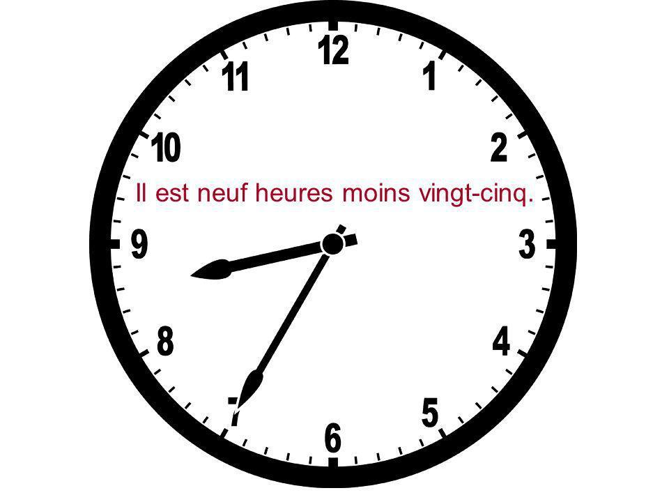 Il est sept heures et demie.