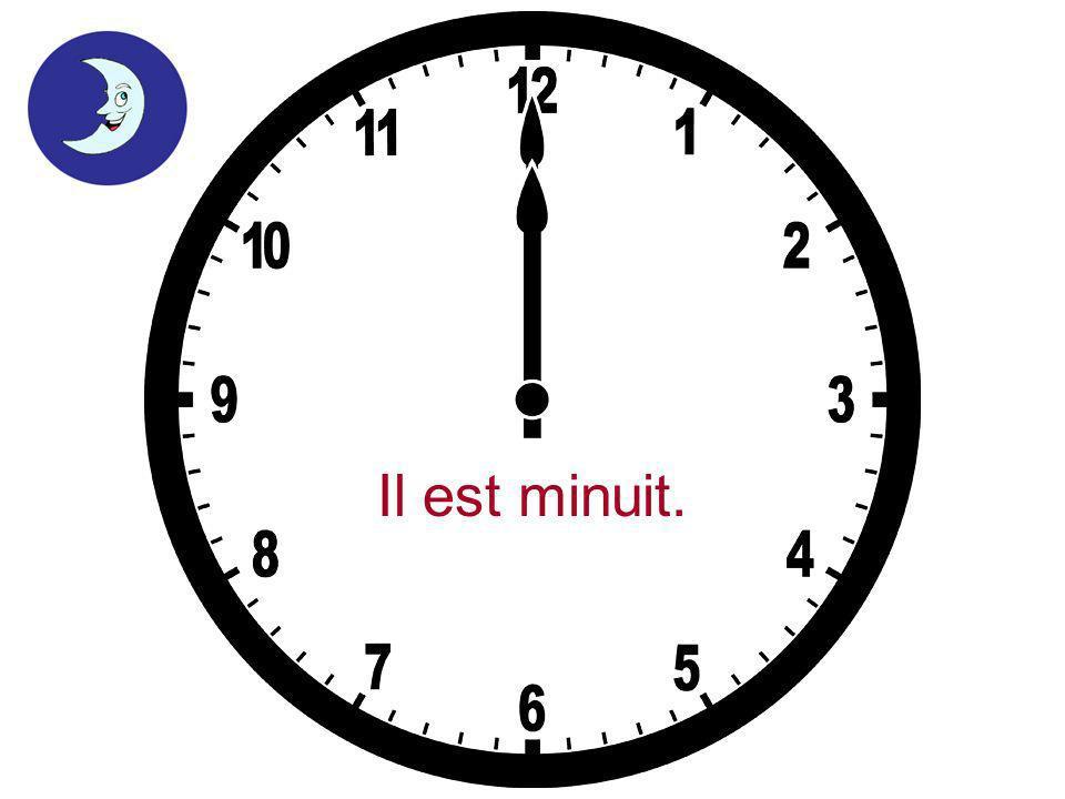 Il est deux heures moins cinq.