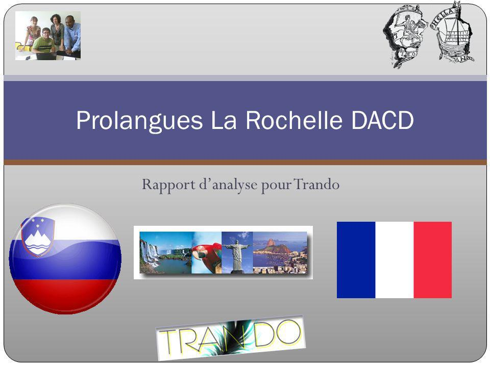 Rapport danalyse pour Trando Prolangues La Rochelle DACD