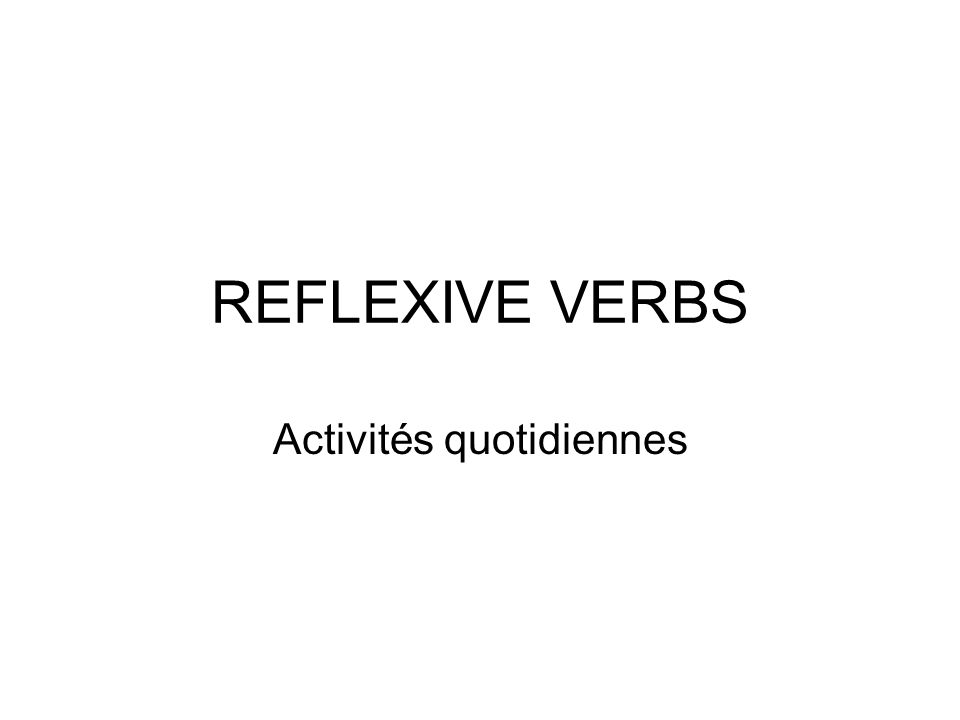 PRONOMINAL VERBS Sappeler*Shabiller To be calledto wear Je mappelleJe mhabille Tu tappellesTu thabilles Il sappelleIl shabille Nous nous appelonsNous nous habillons Vous vous appelezVous vous habillez Ils sappellentIls shabillent * This verb doubles the L – refer to Review Notes that will be given to you on Thursday